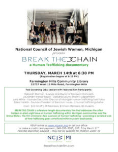 Break the chain link to flyer